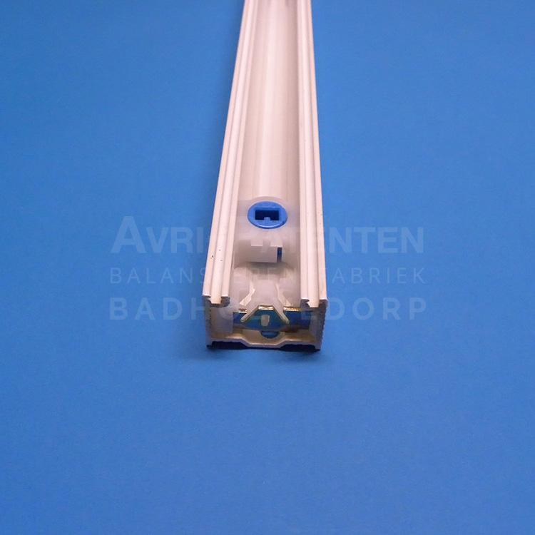 Geleiderrail met groef voor borstelK